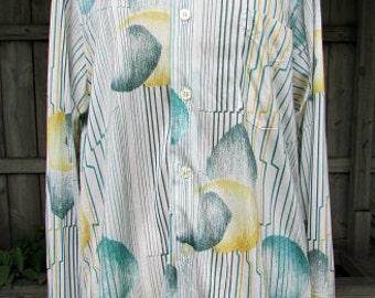 vintage 60s mens atomic shirt mod disco c40 style name comet polachecks milwaukee