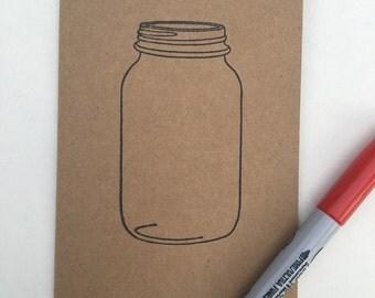 Mason Jar Note Cards/ Set of 10