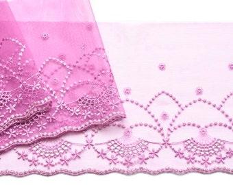 Lilac Lace Trim, Light Purple Trim, Sparkly Lilac Petite Floral Lace, Flower Girls, Dolls, Mantillas, Lace Decor, Princess Dress