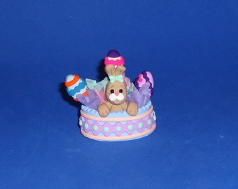 Polymer Clay Bunny Easter Basket