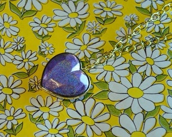 Reversible Holographic Heart Necklace