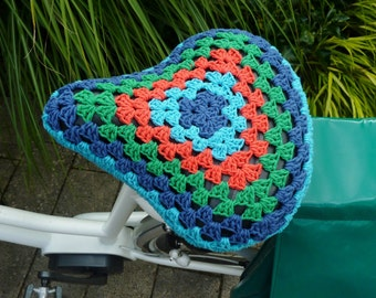 Crochet bicycle seat cover bike seat cover saddle cozy