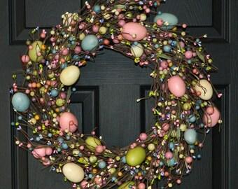 Spring Wreath - Easter Wreath - Egg Wreath-