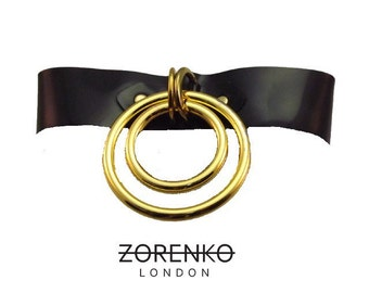 Latex Double O-Ring Choker