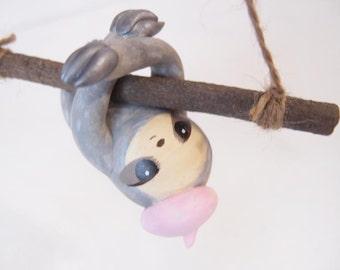 ooak Hand-made sloth ornament 29
