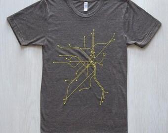 Boston T-Shirt - Coffee/Yellow