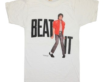 Michael Jackson t Shirt 1984 Beat It Pop tee 1980s  Original