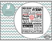 Firefighter Fireman LL019 F - svg file - Cutting File - Graphic Design - Includes ai, svg, eps, dxf(for Silhouette users), png, jpg - subway