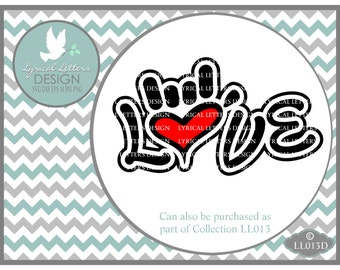Sign Language I Love you Hand LL013 D - Svg - Cutting File - Graphic Design - ai, svg, dxf (for Silhouette users), jpg, png - Svg