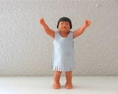 St Labre Native American Child School Girl Celluloid Figurine Doll Native American Collectible St Labre Indian School Indian motif doll