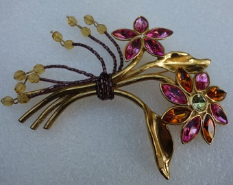 YSL Yves Saint Laurent Vintage Couture Flower Brooch/Pin