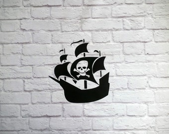 Pirate Ship Vinyl Wall Decal