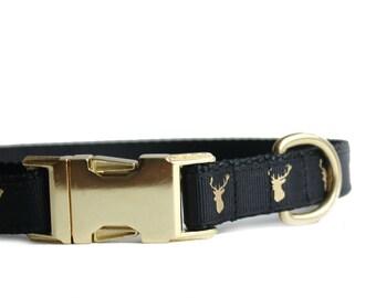 Deer Head Dog Collar, Metal Buckle Collar