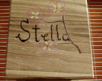 Wood Box customized - any name or word