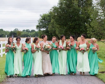 "Princess Cut Bridesmaids Gowns - Full, fabulous, flowing ""Infinity"" style gowns available in hundreds of colors"