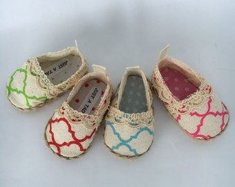 18  inch doll shoes, 18 inch Laney Lee canvas doll shoes, made to fit 18 inch dolls such as American Girl dolls and similar 18 inch dolls