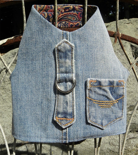 Boyfriend Jean Harness vest from repurposed denim