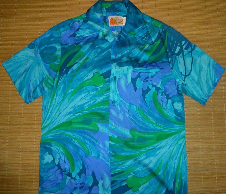 Mens vintage 70s liberty house hipster hawaiian rockabilly for The hawaiian shirt company