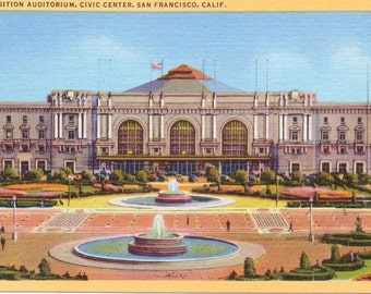 San Francisco, California, Exposition Auditorium, Civic Center - Vintage Postcard - Postcard - Unused (JJ)