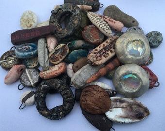 Destash / Collection of Handmade Clay Beads