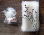 Wedding favor tulle bags, A set of 25 ivory tulle bags with tulle ribbon