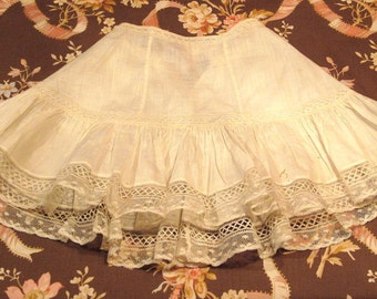 Antique Victorian Lace Doll Slip