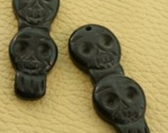 black bone skull pendant