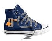 Dinosaur Monogram Custom Converse Youth Shoes Personalized with name