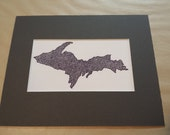 Upper Michigan UP Drawing Reproduction Matted to 8x10 Print