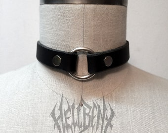 Hellbent Bondage Black Leather Choker