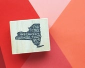 Hand Carved State Return Address Rubber Stamp