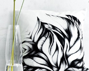 SWIRLING LEAVES PILLOW