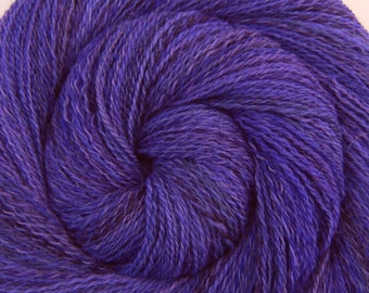 Handspun Yarn - RUTH'S VIOLETS - Handpainted Cheviot wool, 2 ply Fine Fingering weight, 525 yards