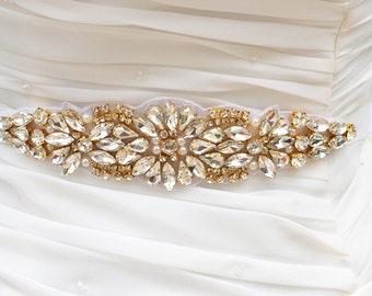 GOLD SALE crystal rhinestone Wedding Belt, Bridal Belt, Sash Belt, Crystal Rhinestones belt