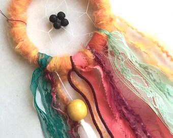 Lava Bead Diffuser Orange Dreamcatcher Mini