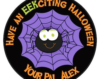 GARAGAPALOOZA Personalized Halloween Stickers, Goody Bag Stickers, Treat Bag Stickers, Halloween Favors, Favor Labels, SET OF 24 (634)
