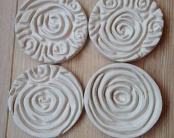 Porcelain coasters set of 4
