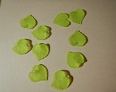 10 Pc Yellow Green Leaf Leaves Beads Charms Frosted Acrylic Dimensional Focal Jewelry