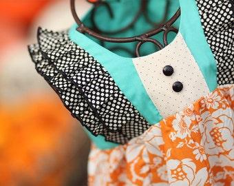 Creamsicle Autumn Ruffle Dress