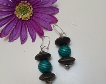 Teal, Wood and Silver