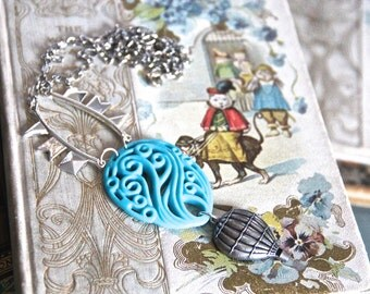 Hot Air Balloon High in the Sky Necklace