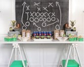 FOOTBALL PARTY Table and Photo Backdrop- Instant Download