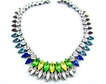 Luxury Swarovski Navette Rhinestone Necklace - GYPSY PRINCESS