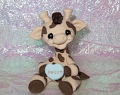 Giraffe with Faux candy heart