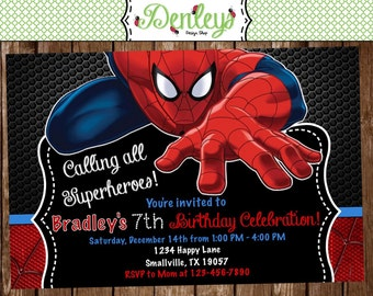 Spiderman Birthday Invitation (SM02)