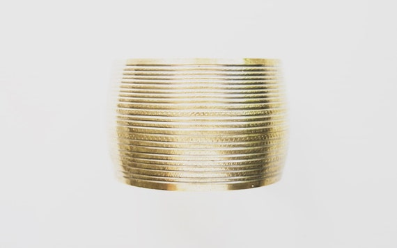 Vintage Artisan Solid Brass Cuff Bracelet // Bohemian Style // Gifts for Her