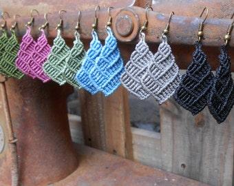 Macrame earrings - pick your colour
