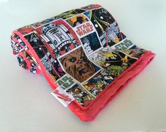 Girls, or, Boys, Comic Strip, Star Wars, Dot Minky Blanket