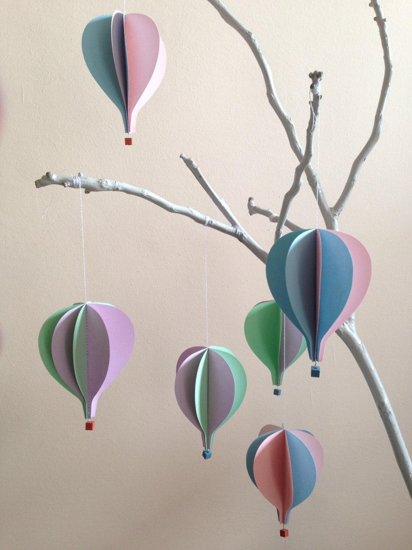 Mongolfiere dappendere set 6 pezzi decorazioni per nursery - Globos aerostaticos infantiles ...