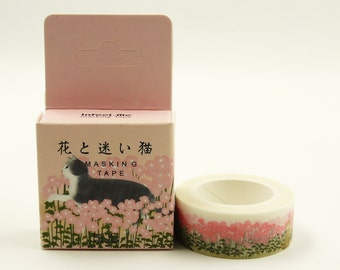 Gimme Kitty - Japanese Washi Masking Tape - 7.6 Yards